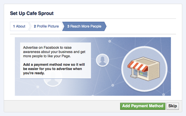 facebook page setup screenshot 2