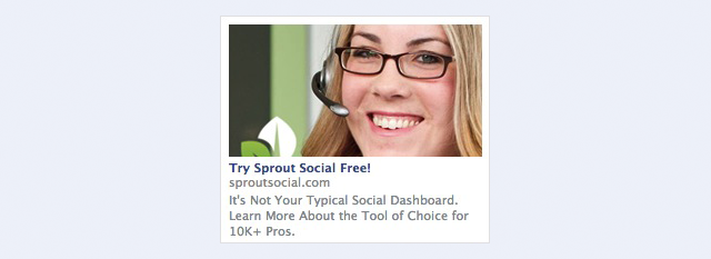 facebook sidebar ads example