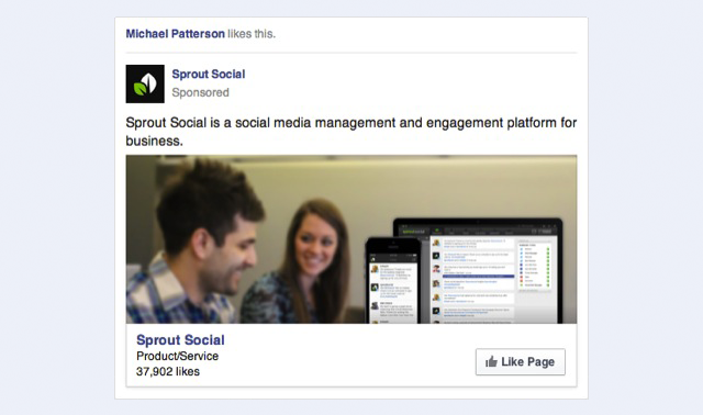 facebook advertising example screenshot 2