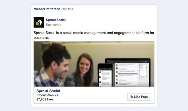 facebook advertising example screenshot 2