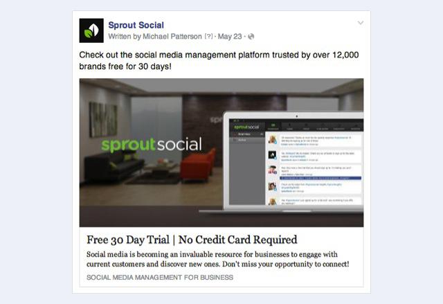facebook website clicks ad example