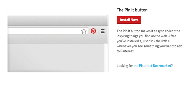 pin it button screenshot