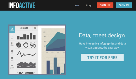 infoactive infographic maker screenshot