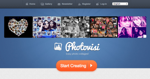 photovisi collage maker website homepage
