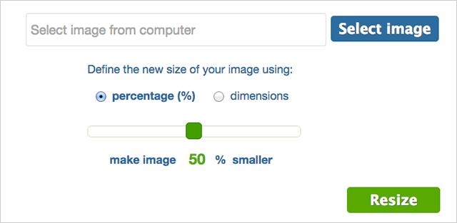 simple image resizer screenshot