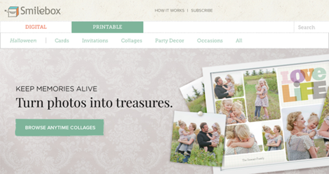 smilebox collage maker screenshot