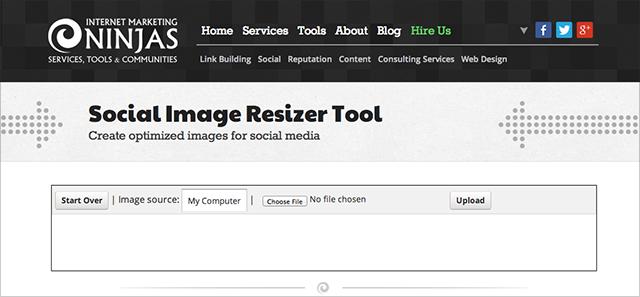 imj social image resizer tool screenshot