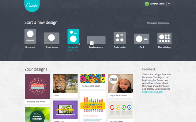 canva image design tool screenshot