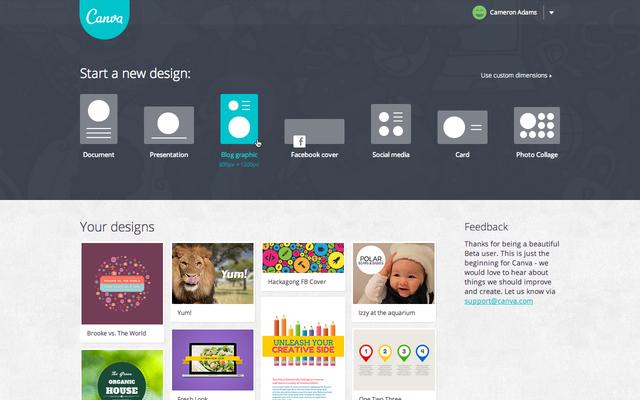 canva image design tool screenshot