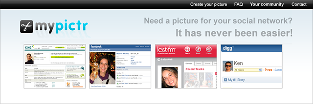 mypictr profile picture maker screenshot