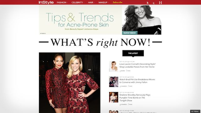 instyle wordpress blog example