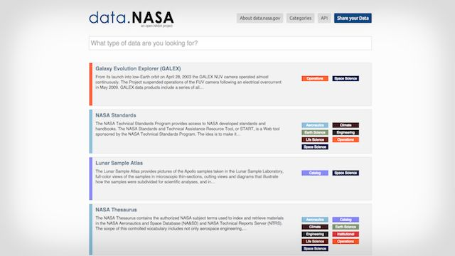 nasa wordpress blog example