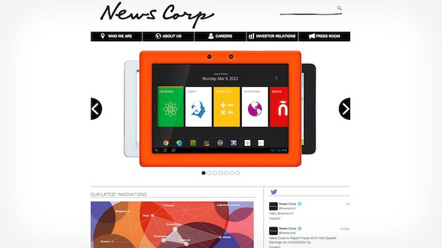 NewsCorp WordPress
