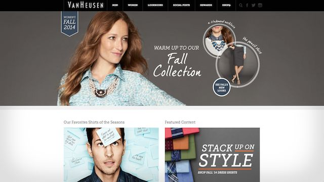 van heusen wordpress example