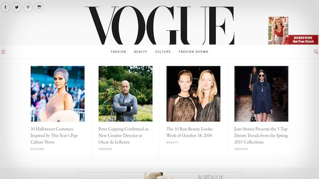vogue wordpress website example