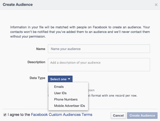 example of facebook ad targeting