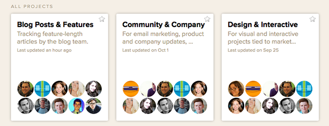 basecamp projects screenshot