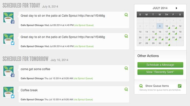 sprout social calendar schedule screenshot