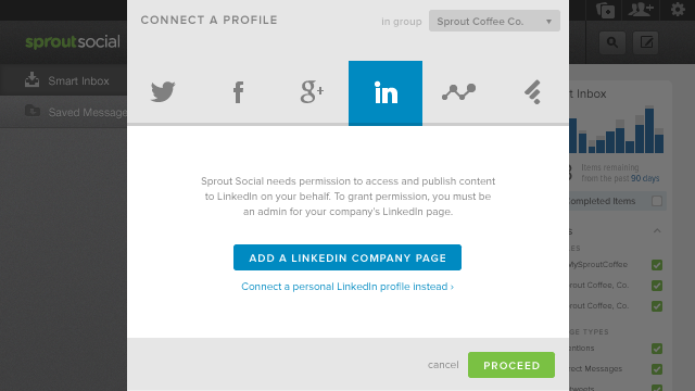 Connect Your LinkedIn Company Page to Sprout