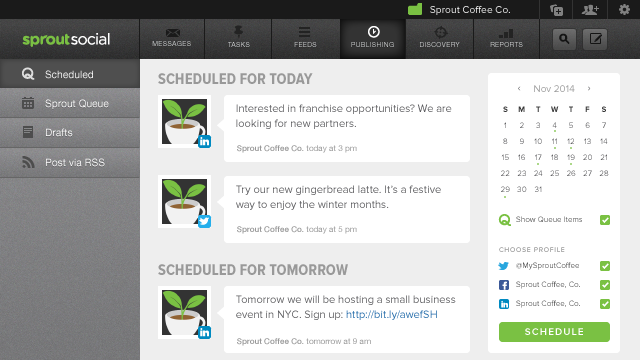 Add LinkedIn to Your Shared Content Calendar