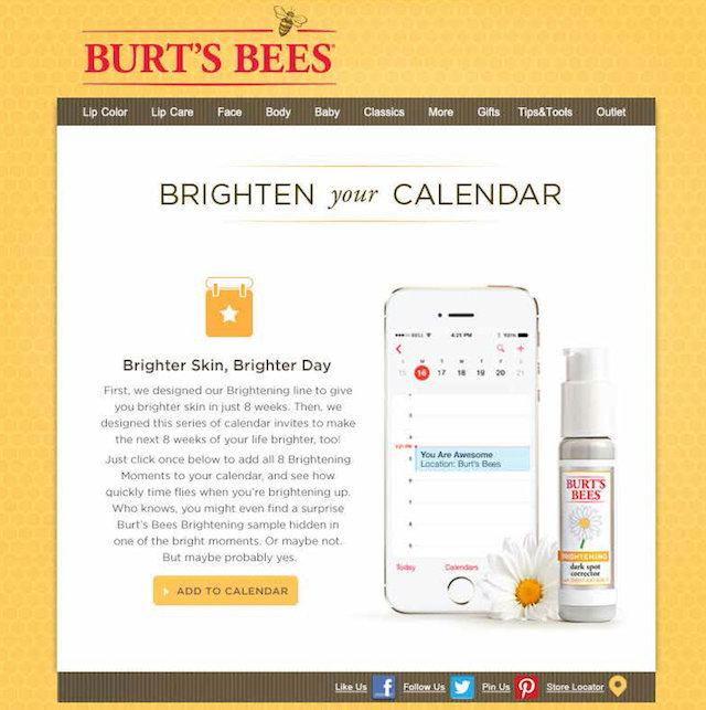 Burts Bees Calendar
