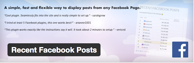 Recent Facebook Posts plugin