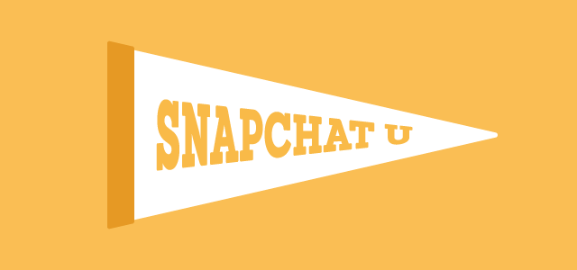 how to use snapchat for colleges