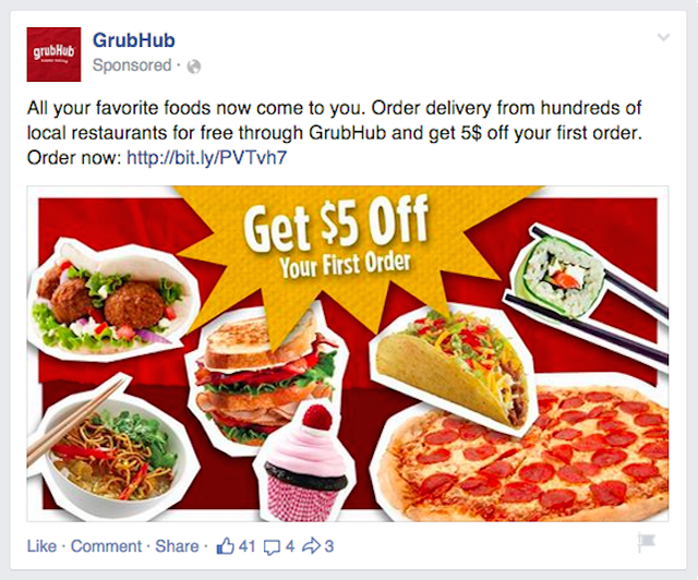 grubhub-facebook-ad copy