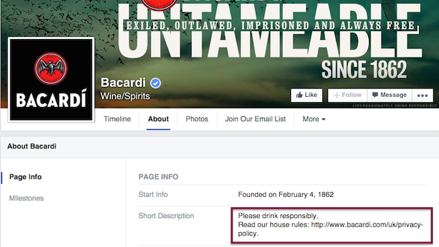 Bacardi House Rules Facebook