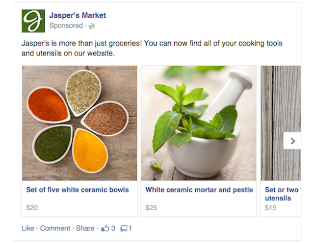 Facebook Multi-Product Ad