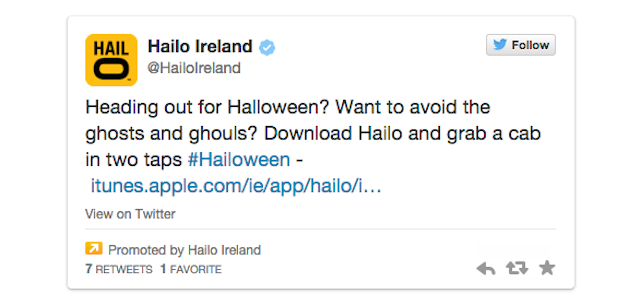 Hailo Promoted Tweet