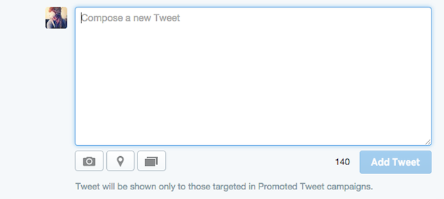 composing a promoted only tweet