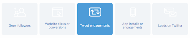 twitter ad campaign objectives