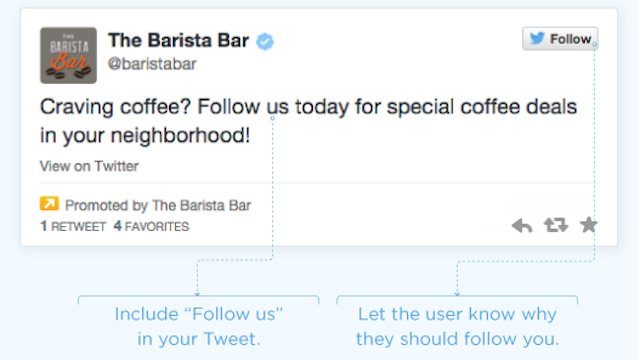 the barista bar promoted tweet