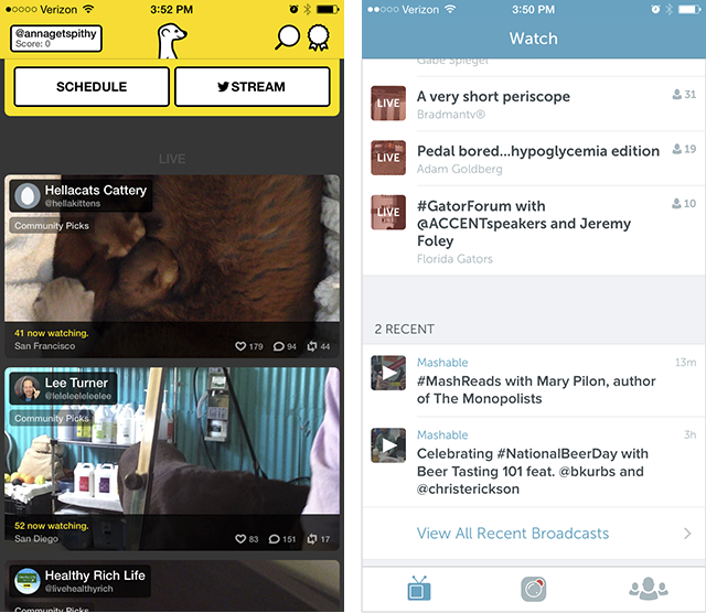 meerkat vs periscope comparison