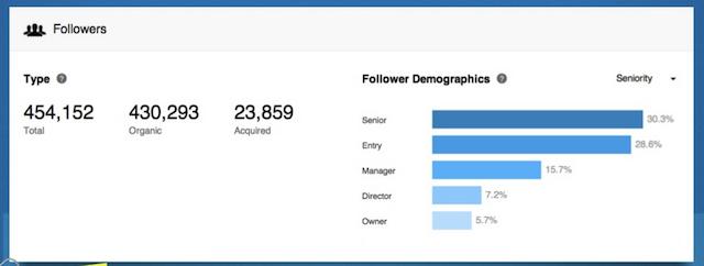 LinkedIn Company Page demographics