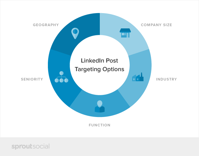 LinkedIn Post Targeting Options Chart