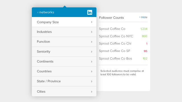 Target your LinkedIn Company Page Updates