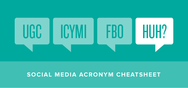 social media acronyms cheatsheet