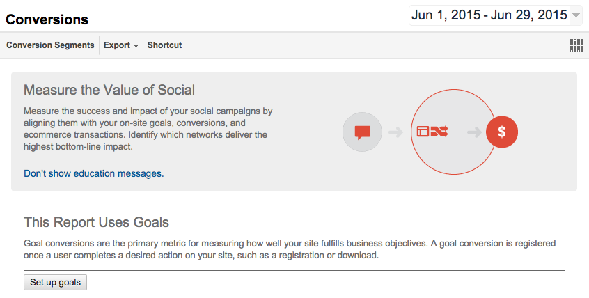 Google Analytics Social Media Conversions 2