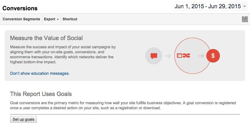 Google Analytics Social Media Conversions 2
