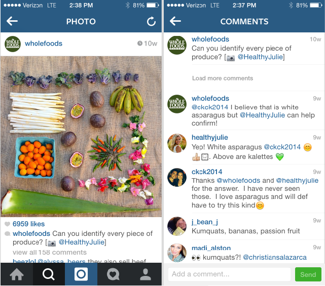 whole foods instagram marketing example