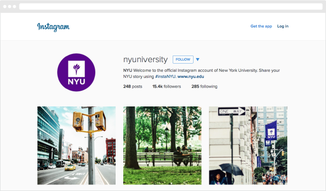 nyu instagram marketing example