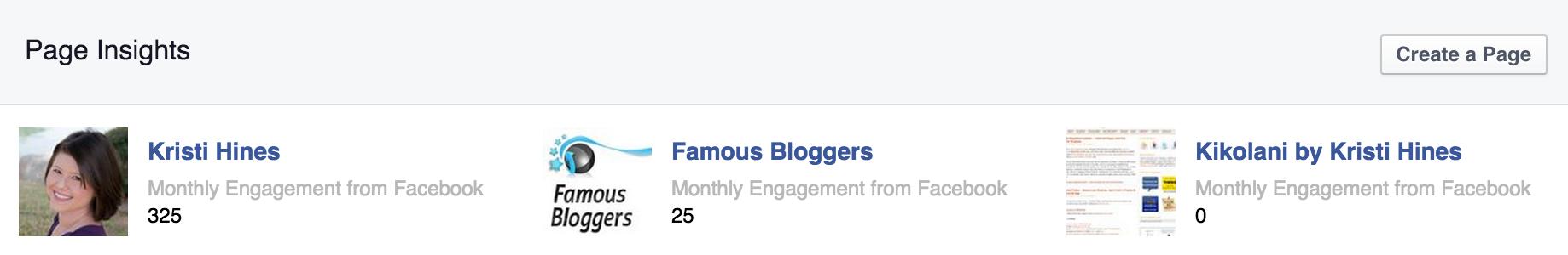 facebook metrics insights overview screenshot