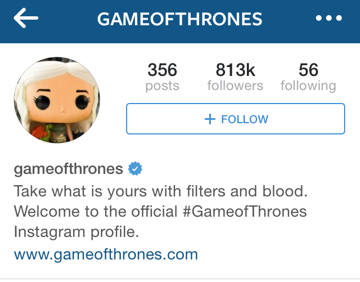 game of thrones instagram