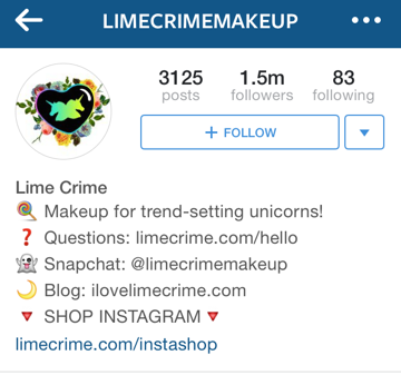 lime crime instagram