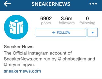 sneaker news instagram