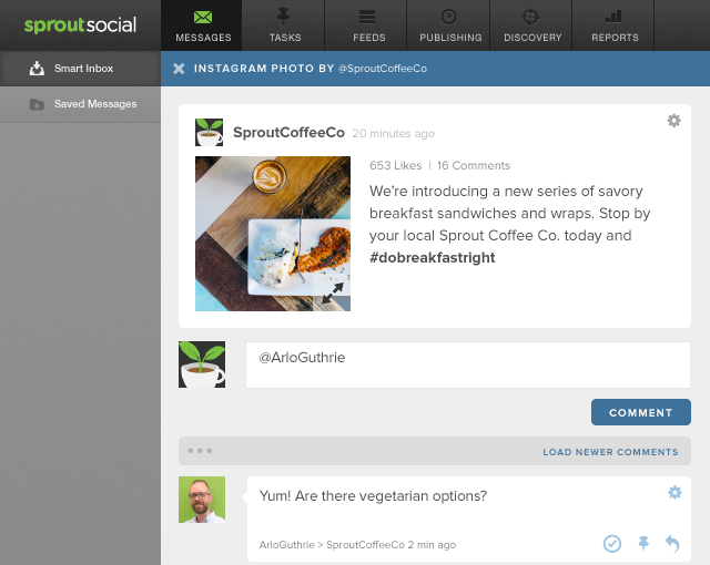 Reply to Instagram Comments in Sprout Social
