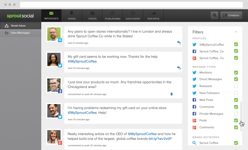 sprout social monitoring example