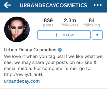 urban decay instagram